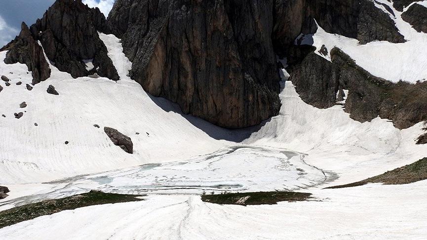 Uydu üzerinden keşfedilmişti…Munzur'daki buzul yerinde görüntülendi