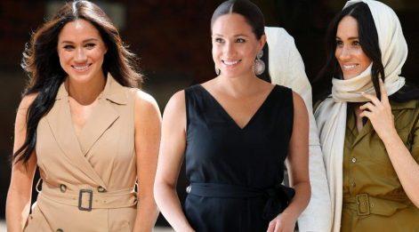 Meghan Markle'ın Güney Afrika turundaki benzer kıyafetleri dikkat çekti