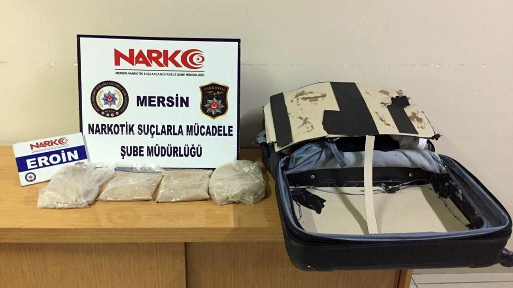 Mersin'de 3,5 kilogram eroin ele geçirildi