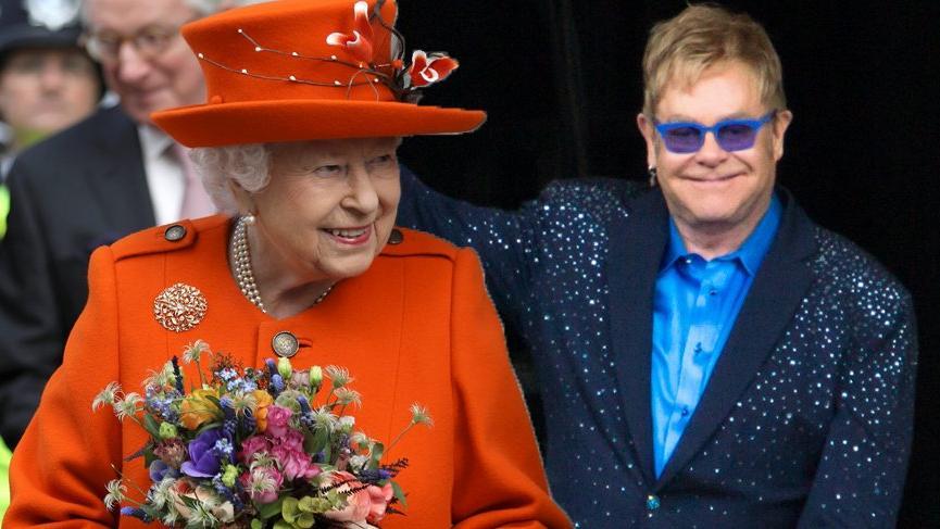 Elton John Kraliçe II. Elizabeth'i yeğenini tokatlamakla suçladı