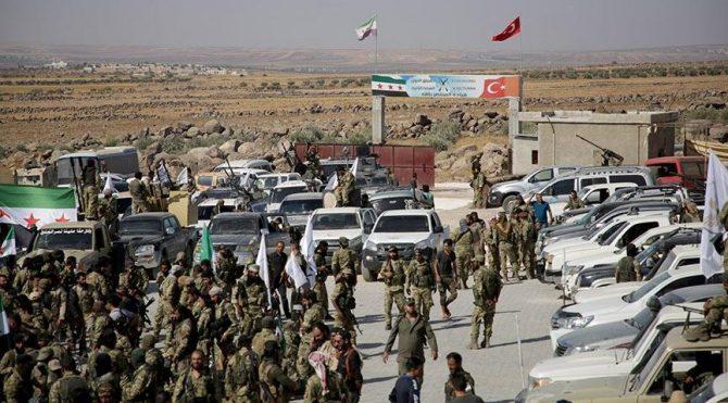 Türk Ordusu destekli Suriye Mill� Ordusu sınıra yığınak yaptı