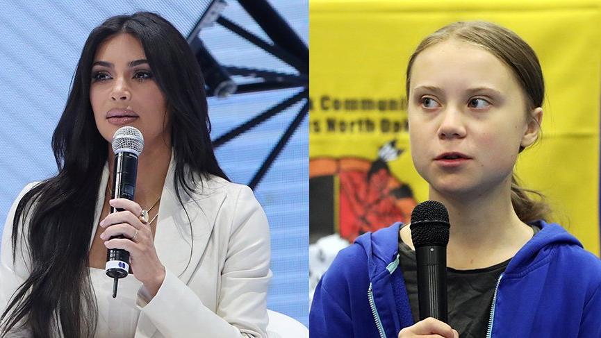 Kim Kardashian, Greta Thunberg'i akşam yemeğine davet etti