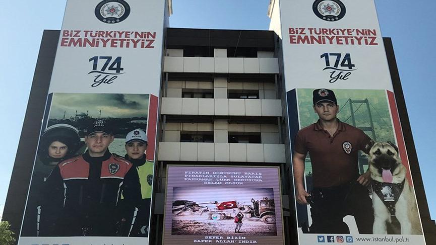 İstanbul emniyetinden Barış Pınarı Harekâtı'na destek