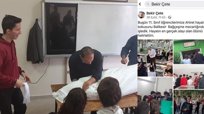 Sınıfta başlayan ders, mezarlıkta son buldu