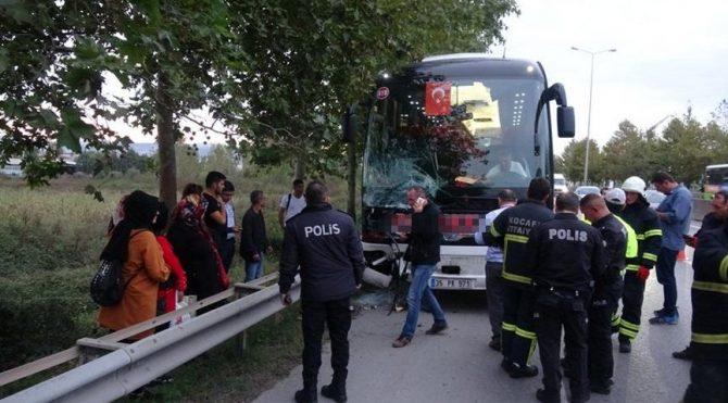 Faciayı otobüsün muavini önledi