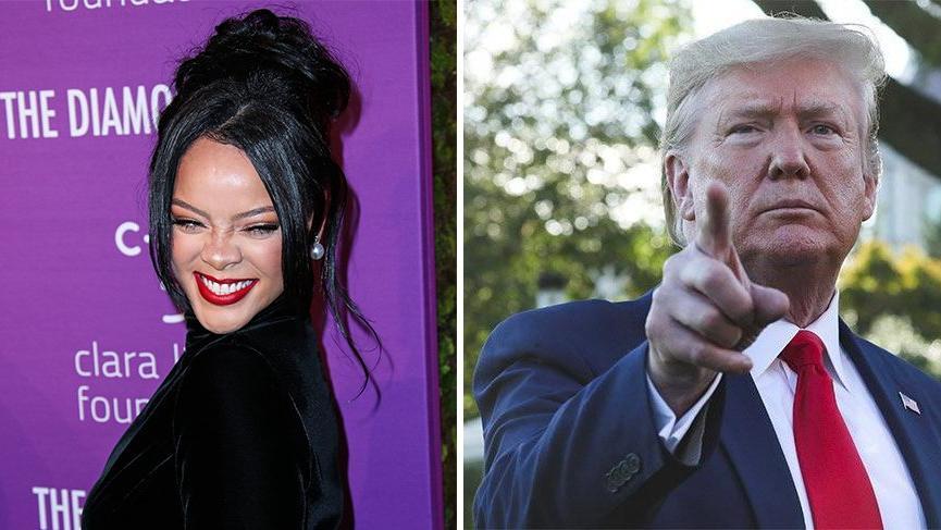 Rihanna'dan Trump'a sert eleştiri: 'Amerika'daki en akıl hastası insan'