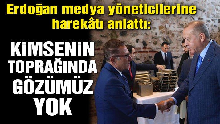 Erdoğan medya yöneticileriyle bir araya geldi!
