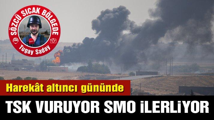 Barış Pınarı Harekâtı altıncı gününde: Sözcü sıcak bölgede