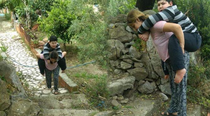 Bedensel engelli Berat'ın eğitimi için yol yapıldı!