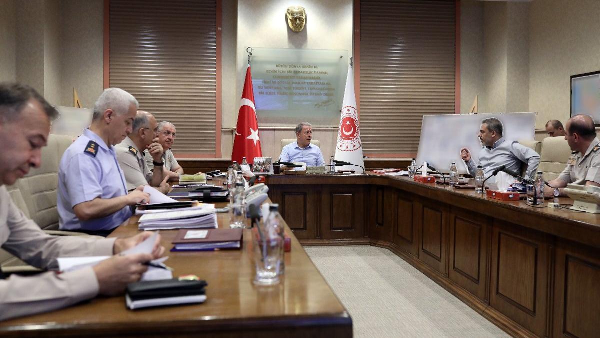 Milli Savunma Bakanlığı'nda kritik toplantı