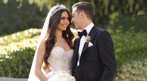 Amine Gülşe, eşi Mesut Özil'in doğum günün kutladı
