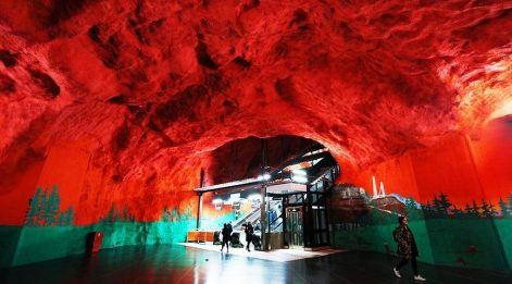 Stockholm'un sanat eseri metro istasyonları