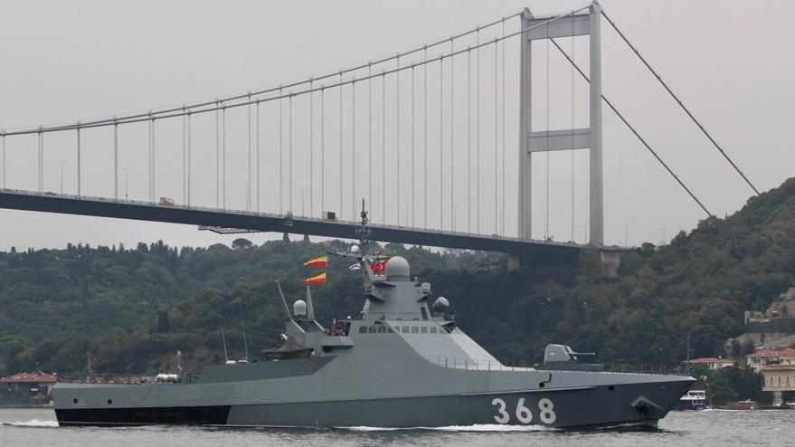 Son dakika... Rus gemisi az önce İstanbul Boğazı'ndan geçti