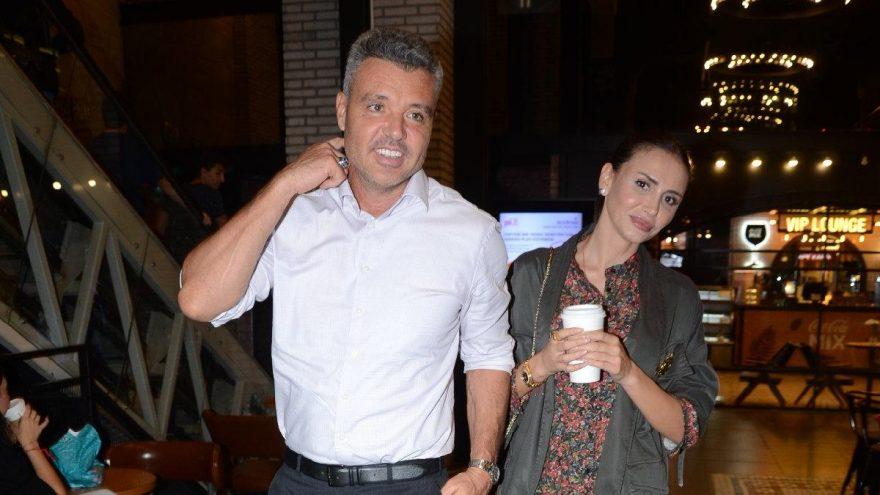 Sadettin Saran ve Emina Jahovic'in sinema keyfi