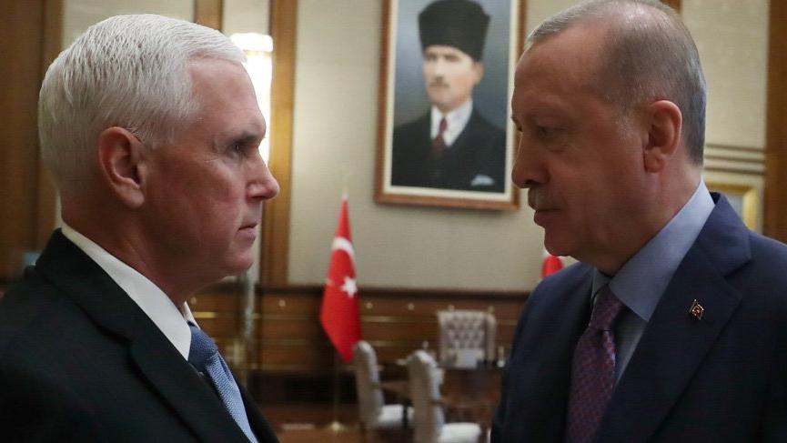 Son dakika... Erdoğan - Mike Pence görüşmesi 1 saat 40 dakika sürdü