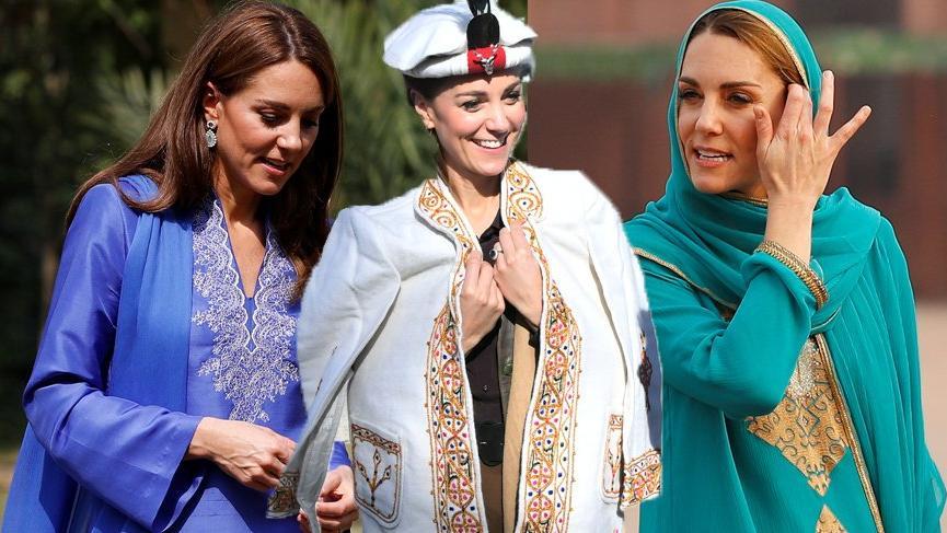 Kate Middleton Pakistan gezisinde tercih ettiği stiliyle hayran bıraktı
