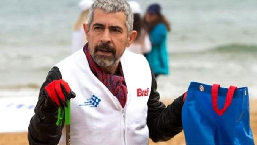 Kıyı temizliğine ünlüler de katıldı