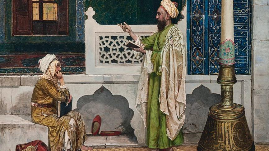 Osman Hamdi Bey'in tablosu Yeşil Cami'de Kuran Dersi açık arttırmada 35 milyon TL'ye satıldı