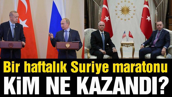 Bir haftalık Suriye maratonu… Türkiye ne kazandı? Neyi gerçekleştiremedi?