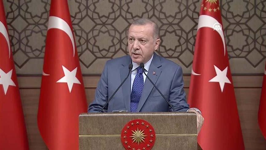 Cumhurbaşkanı Erdoğan: Devasa ülkelerin liderleri terörist başlarını yanlarına alıyor