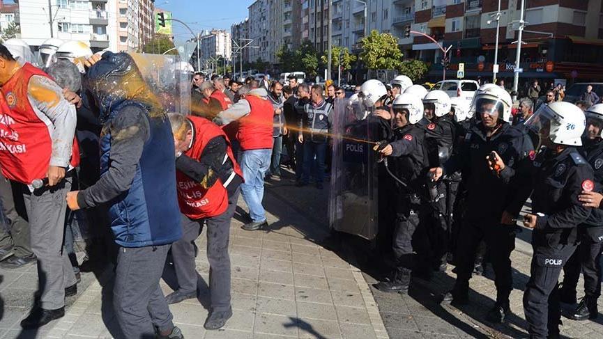 Eskişehir'de işçilerin yürüyüşüne müdahale: 30 gözaltı