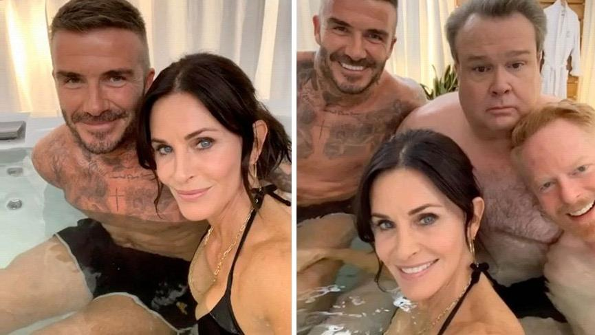 David Beckham ve Courtney Cox jakuzide