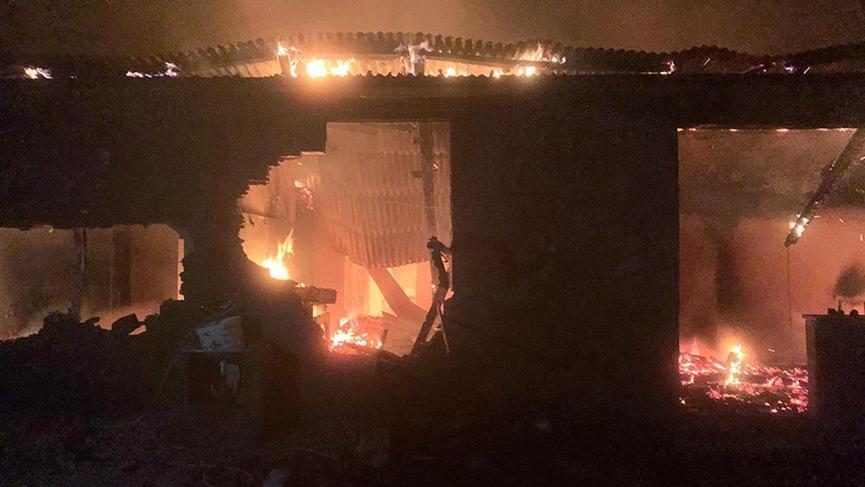Giresun'da yıldırım düşen ev yandı: 2 ölü