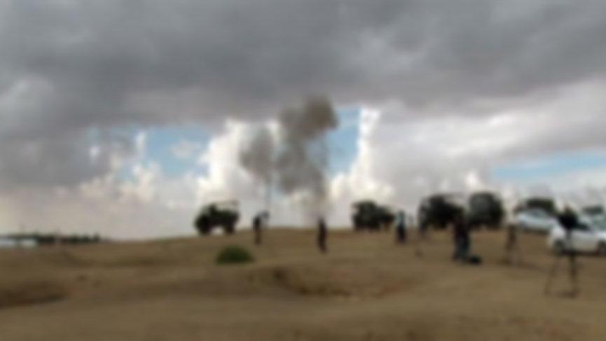 YPG/PKK'lı teröristlerden Azez'e havan saldırısı