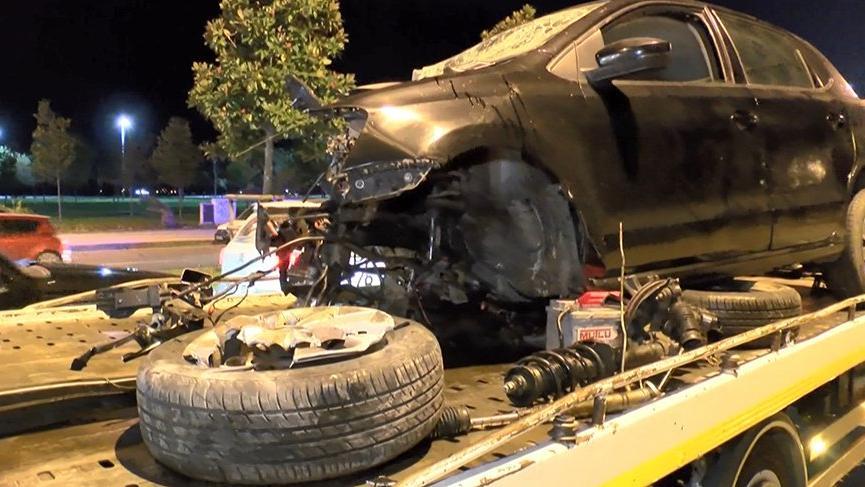 Kartal'da makas attığı iddia edilen sürücü kaza yaptı!