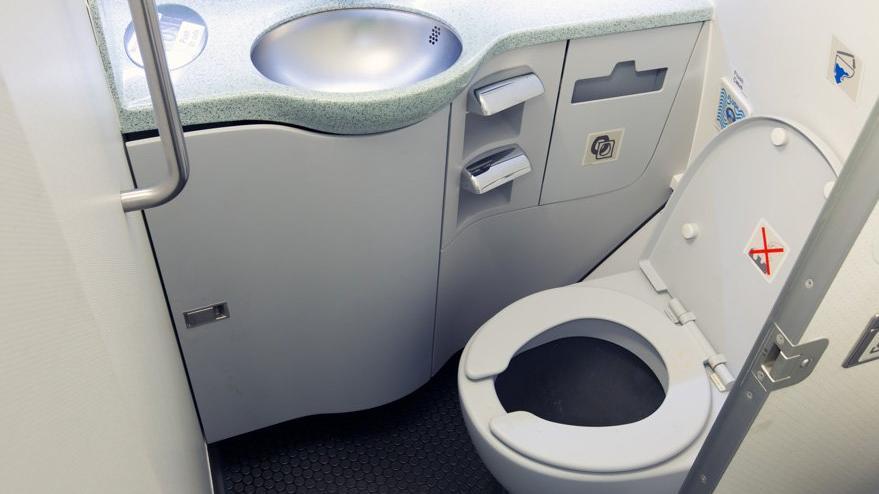 Mide bulandıran olay: Uçağın tuvaletinde fark edince ifşa oldular