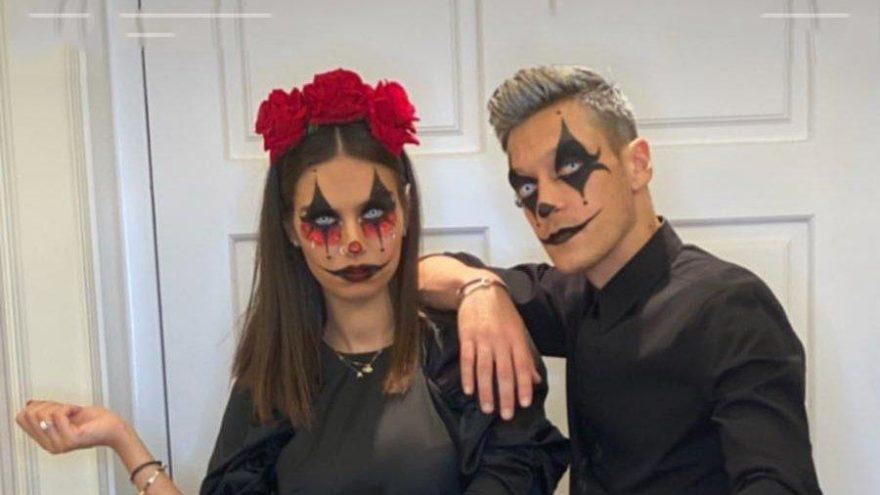 Mesut Özil ve Amine Gülşe çifti de Cadılar Bayramı'nı kutladı