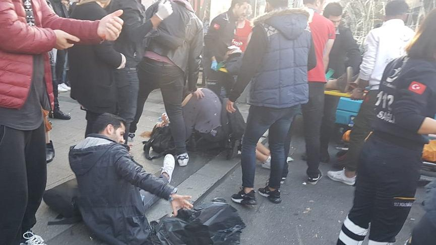 Beşiktaş'ta otobüs durağa daldı! 2'si ağır 13 yaralı