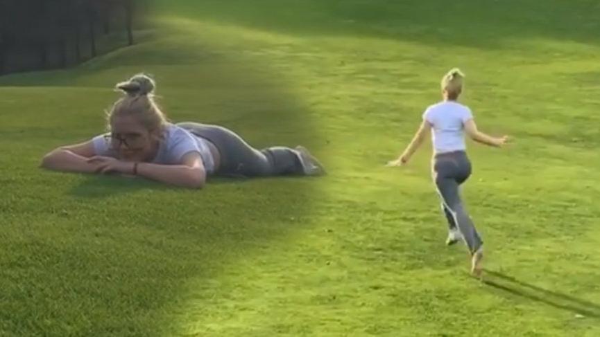 Aleyna Tilki'den çayır çimen videosu