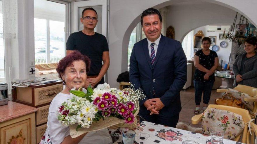 Bodrum Belediye Başkanı'ndan Fatma Girik'e ziyaret