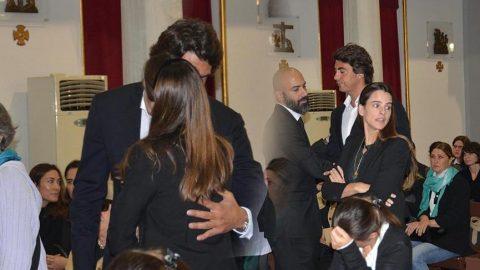 İbrahim Kutluay, Edvina Sponza'yı babasının cenazesinde yalnız bırakmadı