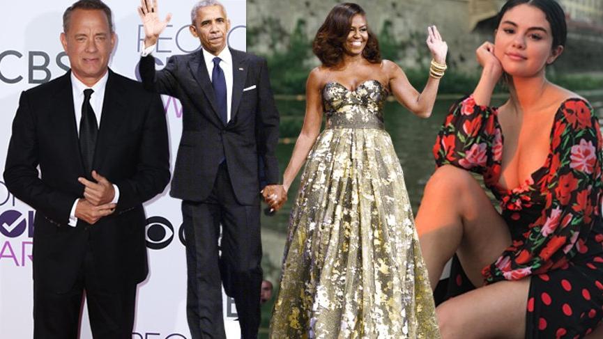Michelle Obama'nın oy verme derneğine Selena Gomez de katıldı