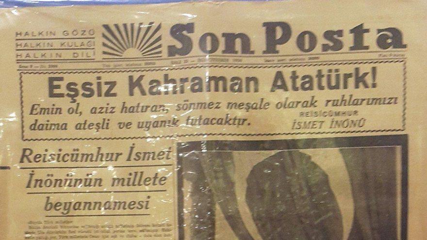 Ata'nın uğurlanışı gazetelere böyle yansımıştı