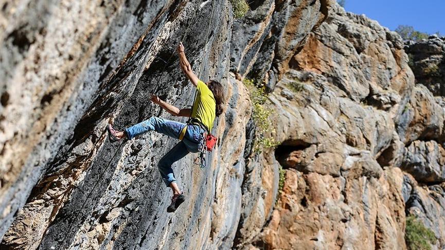 Kaya tırmanışçılarının yeni rotası Diyarbakır