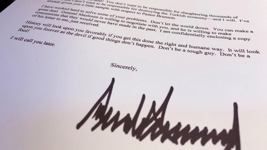 Trump'ın Cumhurbaşkanı Erdoğan'a yazdığı ikinci mektup ortaya çıktı