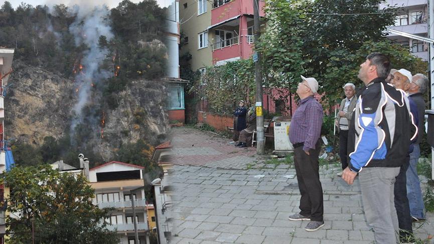 Bartın'da orman yangını! 7 ev boşaltıldı