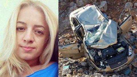 Nöbetten dönen hemşire kazada can verdi