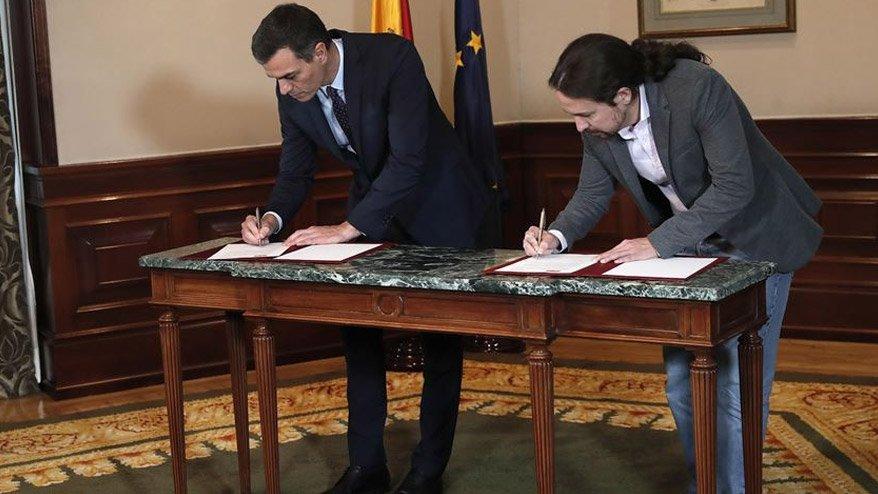İspanya tarihinde bir ilk! Sol partiler anlaştı