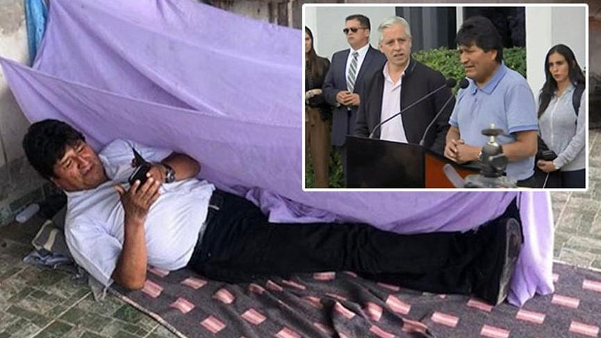 Ülkesindeki son geceyi böyle geçirmişti... Ve Morales Meksika'da!