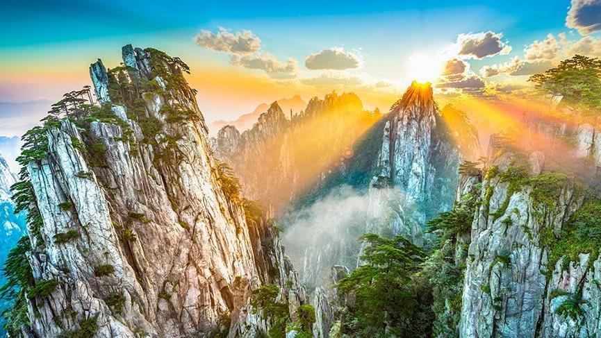 Eşsiz güzellikteki Huangshan Dağı