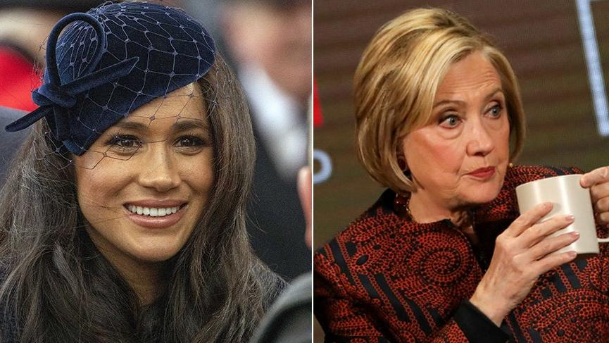 Meghan Markle, eski First Lady Hillary Clinton ile 'gizlice' buluştu