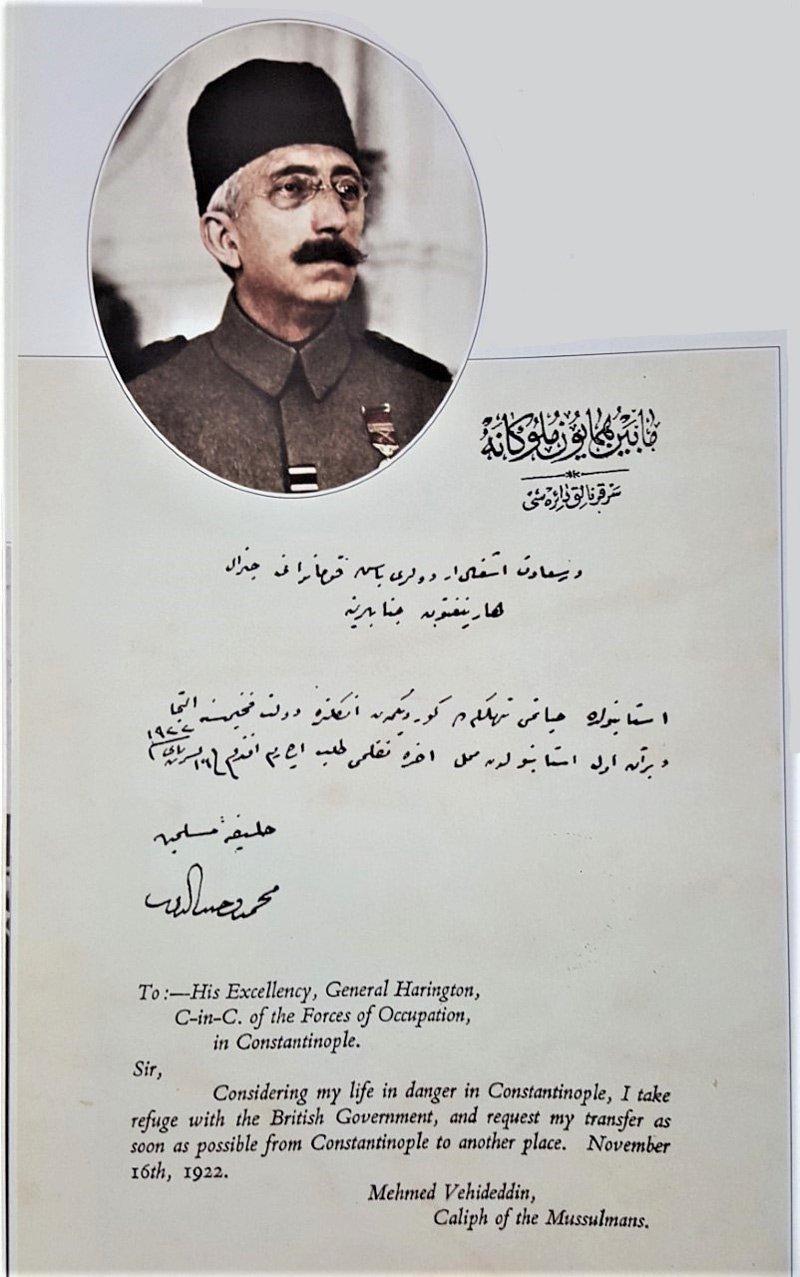 İşte Vahdettin'in İngilizlere sığınma talebinin belgesi: ile ilgili görsel sonucu