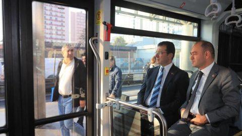 İşte yeni metrobüs... Ekrem İmamoğlu test etti