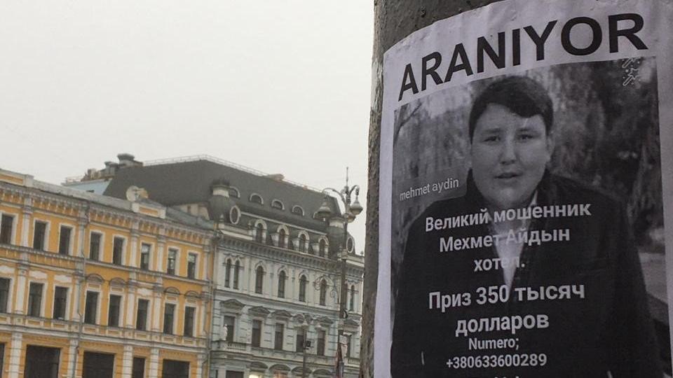 Tosuncuk'un aranıyor ilanları Kiev'de