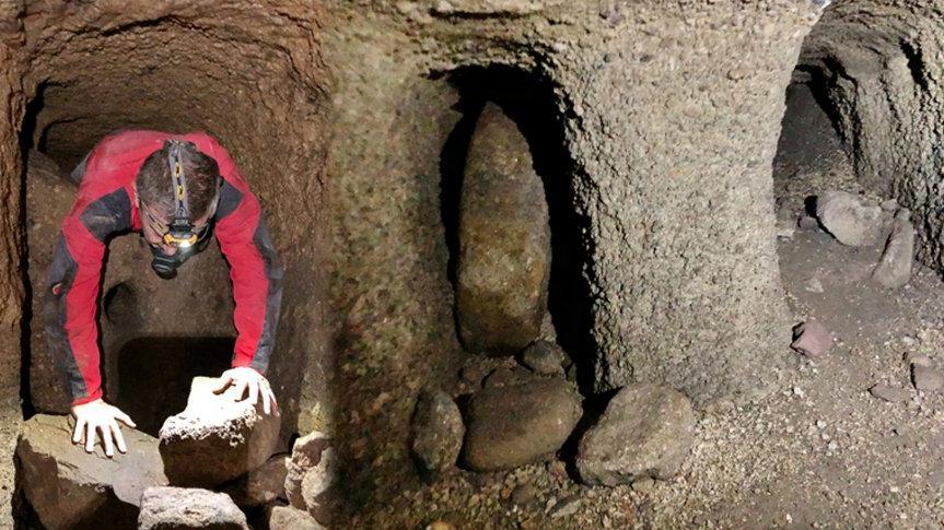1300 metre uzunluğunda Kayseri'de bulundu