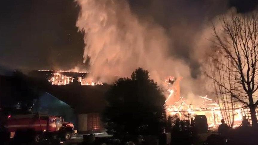 Rusya'da büyük yangın! Helikopter de müdahale etti